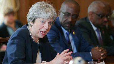 Theresa May holds a meeting with Commonwealth leaders over the Windrush scandal.