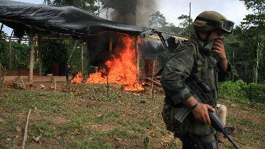 Policía Nacional de los Colombianos image of cocaine raid #GDS2018