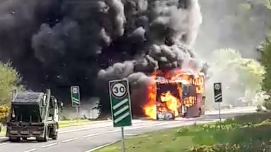 Coach destroyed in blaze near golf course on A82 near Inverness 10/5/18