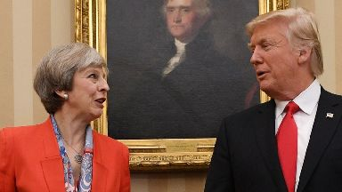 Theresa May and Donald Trump have discussed the Iran nuclear deal in a phone conversation.