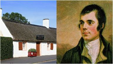 Burns: Cottage in Alloway.
