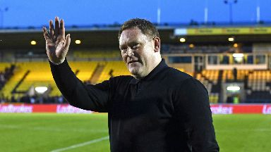 David Hopkin celebrates after Livingston beat Partick Thistle.