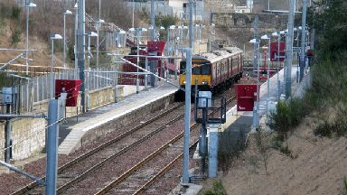 Larkhall Train Station stock/generic