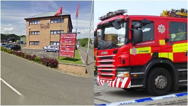 Blaze: More than 35 firefighters called. Friarton Industrial Estate Perth