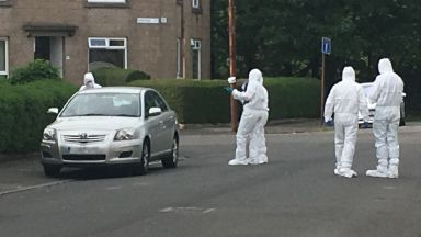 Craigton: Forensic officers called. Glasgow Torbreck Street Shooting