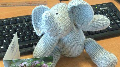 Knitted elephants