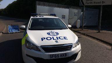 Maybury Road: Road closed by police. Edinburgh Death Crash