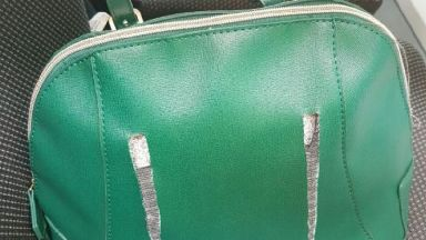 The stolen bag was found around half a mile away from the scene of the mugging.