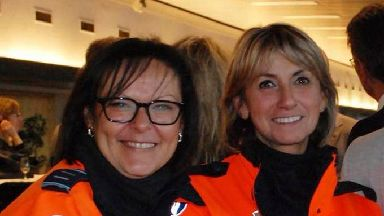 Liege police officers Soraya Belkacemi and Lucille Garcia.