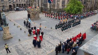 Rededication of Mercat Cross in Edinburgh May 30 2018.