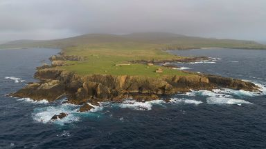Lamba Ness site in Unst, potential launch site for small satellites off Shetland