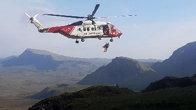 Foreign woman rescued by Skye MRT after hit by rock on northernmost summit of the Trotternish peninsula
