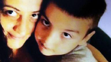 Orphaned asylum seeker Giorgi Kakava with mother Sopio Baikhadze
