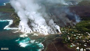 Lava from Hawaii volcano destroys hundreds of homes