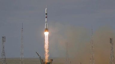 Trio of astronauts blast off for International Space Station
