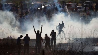 Hundreds hurt amid deadly response by Israeli forces during Gaza protests