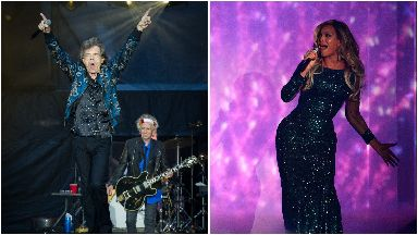 Beyonce and Mick Jagger