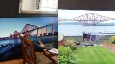 Forth Bridge painting.