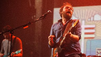 Scott Hutchison of Frightened Rabbit performs at the iTunes Festival 2012, at the Roundhouse, in north London.