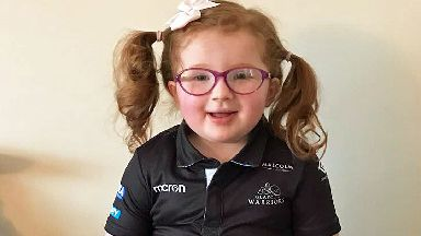 Caitlin Wilkie, three year old with Bardet-Biedl Syndrome from Kirriemuir