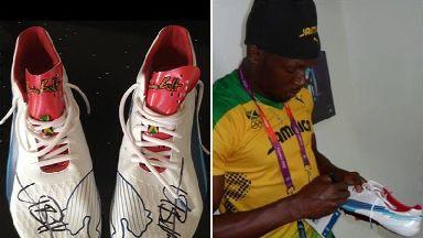 Signed Usain Bolt running shoes stolen in burglary