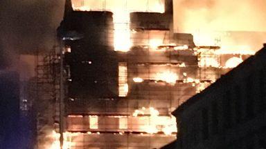 Blaze: Glasgow School of Art.