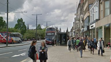 Princes Street: Man taken to hospital. Next Edinburgh