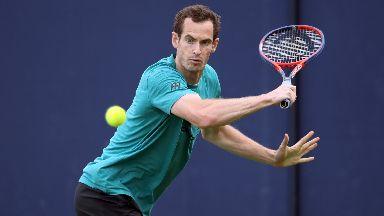 Andy Murray practice Queen's 2018