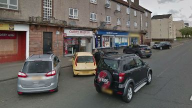 Curry Master, Kilmarnock. Site of stabbing attempted murder.