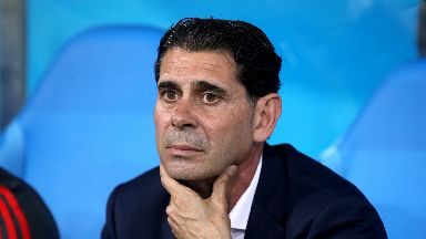Fernando Hierro guided Spain to a 1-0 win over Iran.