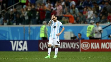 Subdued: Messi couldn't make an impact.