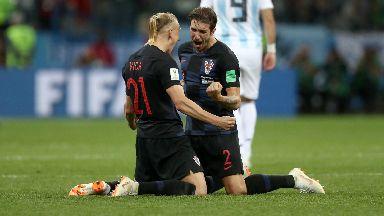 Victory: Croatia outclassed Argentina.