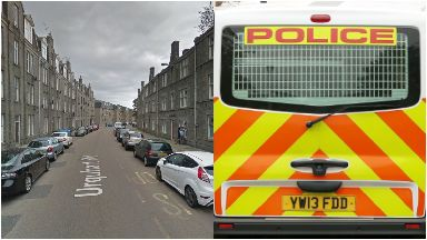 Aberdeen: Officers closed the road.