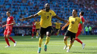 Threat: Lukaku helped Belgium to a 5-2 win.