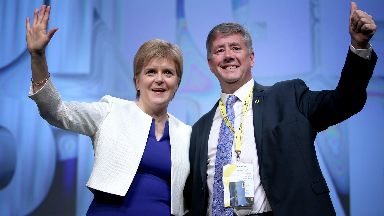 Nicola Sturgeon Keith Brown SNP conference June 2018.
