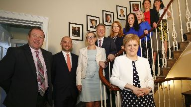 New Scottish Government junior ministers in Bute House with Nicola Sturgeon.