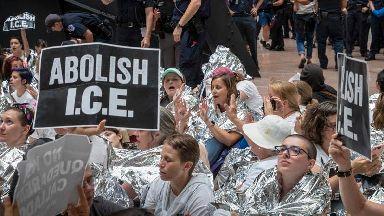 Hundreds arrested after mass protest against Trump immigration policies