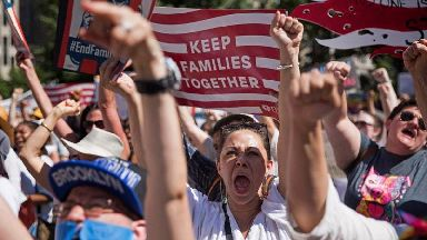 Huge protests staged across America over immigration policy