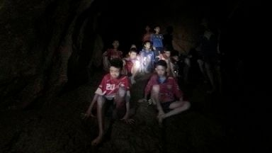 Boys trapped in Thai cave say they are healthy in new video