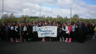 Cumbernauld school pupils join Papal celebrations