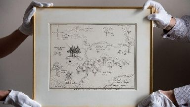 Original map of Winnie-the-Pooh's Hundred Acre Wood sells for record £430,000