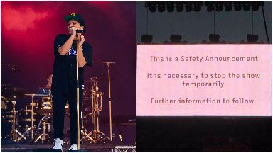 Bruno Mars: He had to leave the stage in Glasgow.