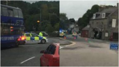Police: Road closed for eight hours. Aberdeen Old Meldrum Road Staging Post pub