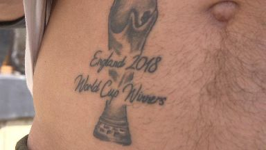 No regrets for fan who had 'England 2018 World Cup Winners' tattoo