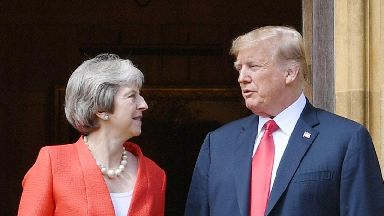 Donald Trump says relationship with Theresa May is very good