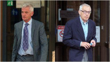 Raymond Gunn (left) left Alan Gunn (right) brain damaged.
