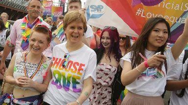 Nicola Sturgeon honoured to lead Scotland's largest pride parade