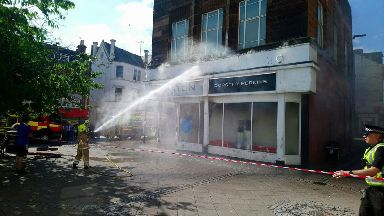 Fire at Burton and Dorothy Perkins shop in Dumfries July 14 2018