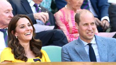 William and Kate joined by Hollywood stars for men's singles final