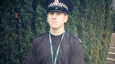 PC Rhys Prentice, who died in motorcycle crash on A7.